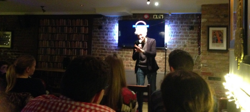 Iszi Laurence Performing at the Underground Comedy Club London Notting Hill