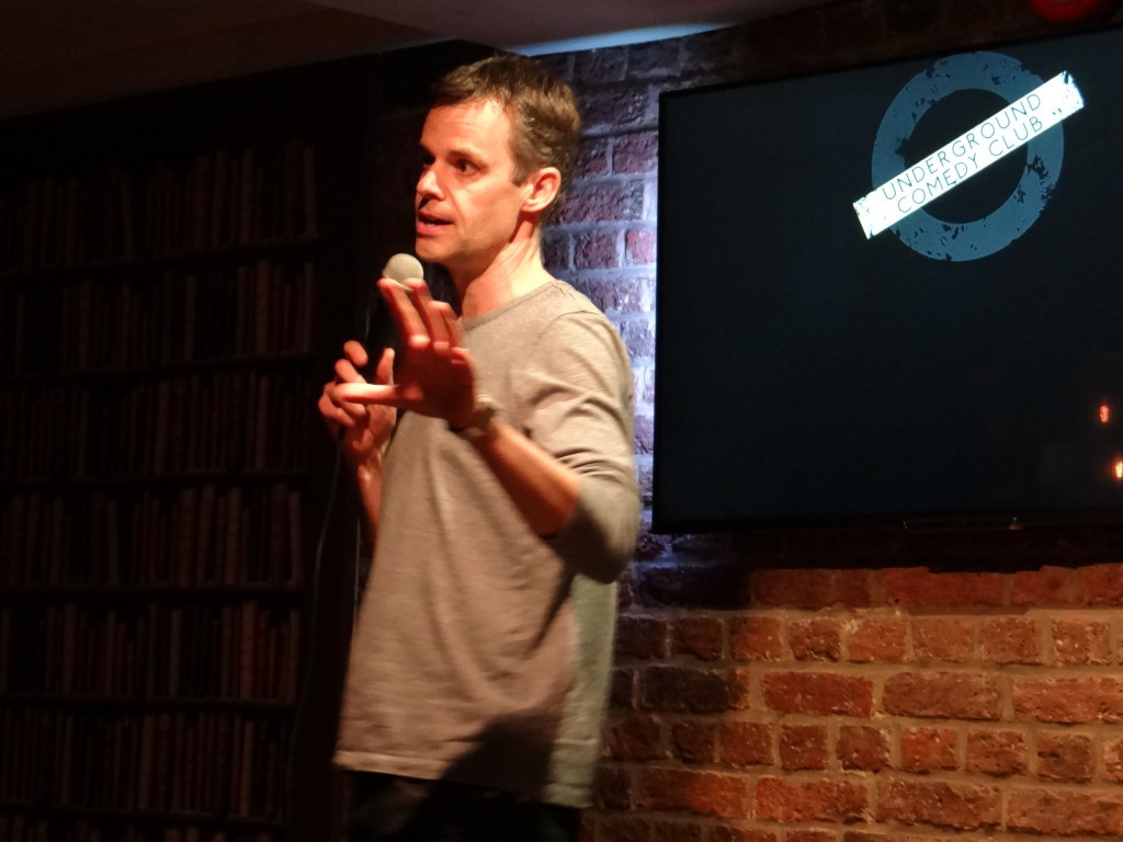 Jon Murfin performing at the Underground Comedy Club Notting Hill 2015-03-05