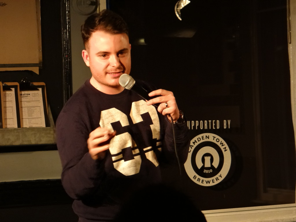 Tom Holmes performing at Underground Comedy Club Kentish Town 2015-04-09 02