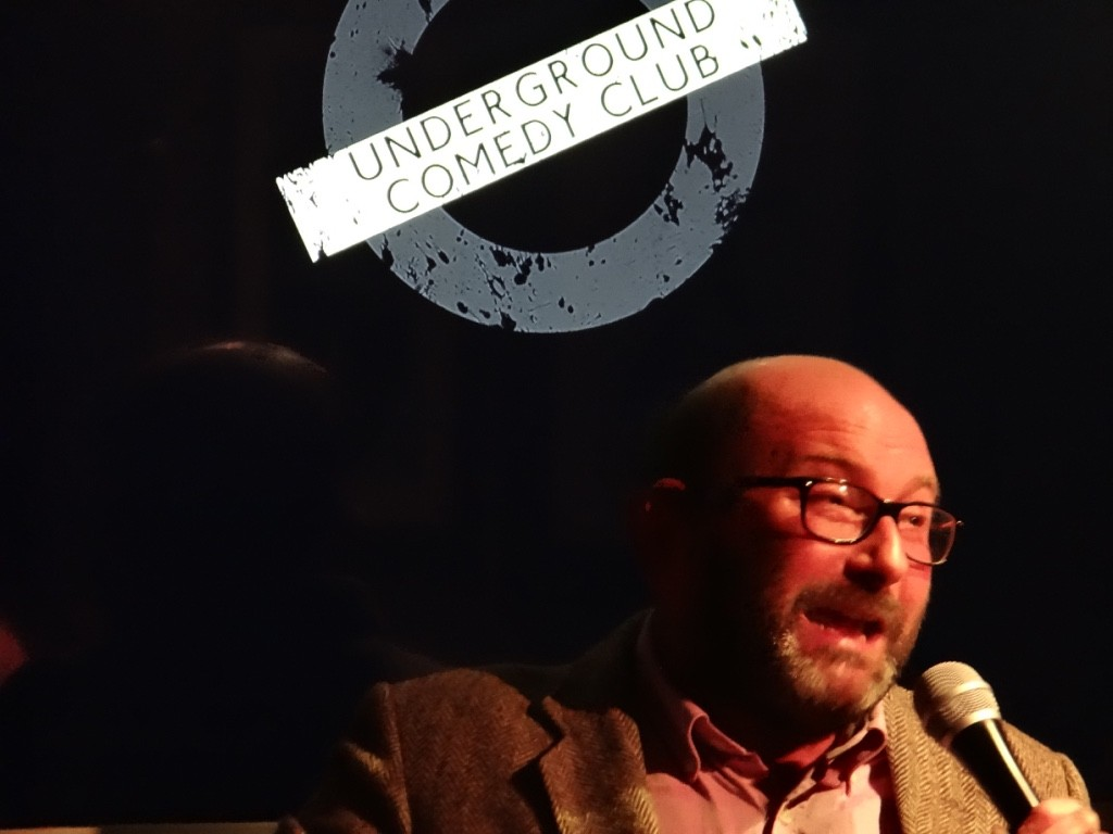 Chris Neill performing at the Underground Comedy Club 30th May 2015