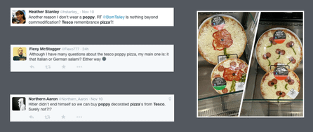 Improtant news of the week - Remembrance Day....well until Tesco got involved. creating it's 'Popp-irami  Pizza'