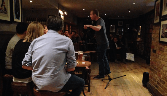 Adam Ruston performing Opener at the Underground Comedy Club Nov 13th